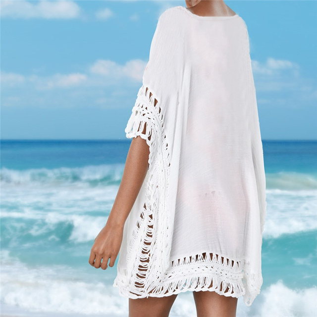 Women's Crochet Sun Cotton Beach Cover Up 2
