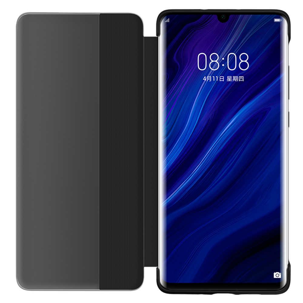 HUAWEI P30 Pro Case Original Official Smart View Window Leather Protection Flip Case HUAWEI P30 Pro Cover Huawei P30 Case Funda