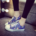 Floral Canvas Shoes Brand New 2017 Fashion Women Casual Shoes Breathable Spring Autumn High Platform For Ladies Shoes B231