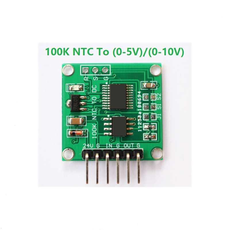 100K NTC Thermistance Tour de tension 0-5 V 0-10 V Linéaire Conversion température Transm