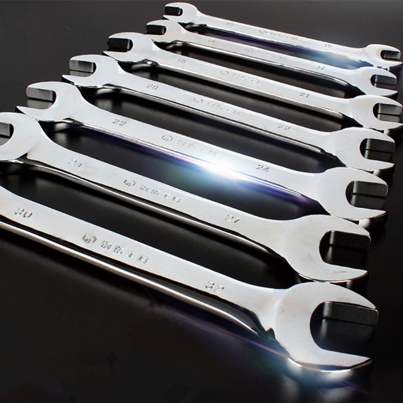 Llaves de doble punta de alta calidad para actividades, 6-24mm, juego de llaves de carraca, llave de torsión, herramientas de reparación de automóviles