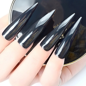 Image 2 - Born Queen Выделите черный зеркальный ногтевой порошок блестки Сияющий пигмент для ногтей хром пыли Маникюр нейл арта украшения