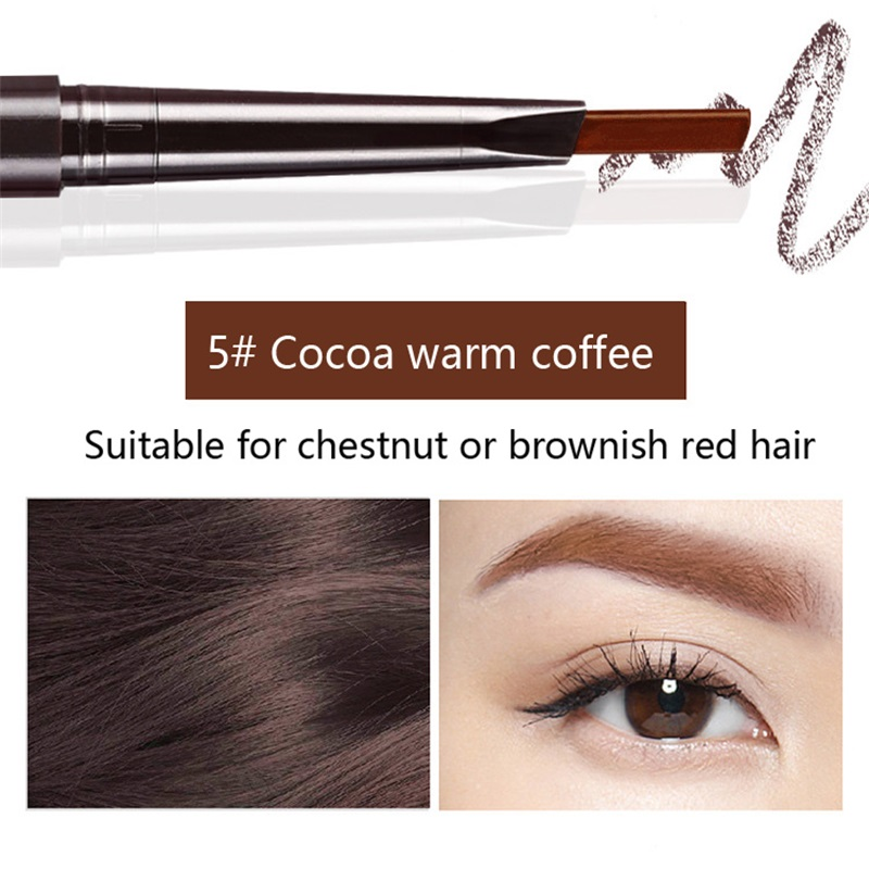 Hot Sale Eyebrow Automatic Tattoo Pen Waterproof Eye Makeup 5colors Easy Use Eyebrow Pencil Eyebrow #01 natural cool black 6