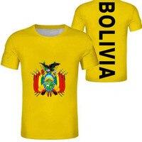 BOLIVIA man youth diy custom made name number bol country boy t shirt nation flag spanish college bolivian print photo clothes