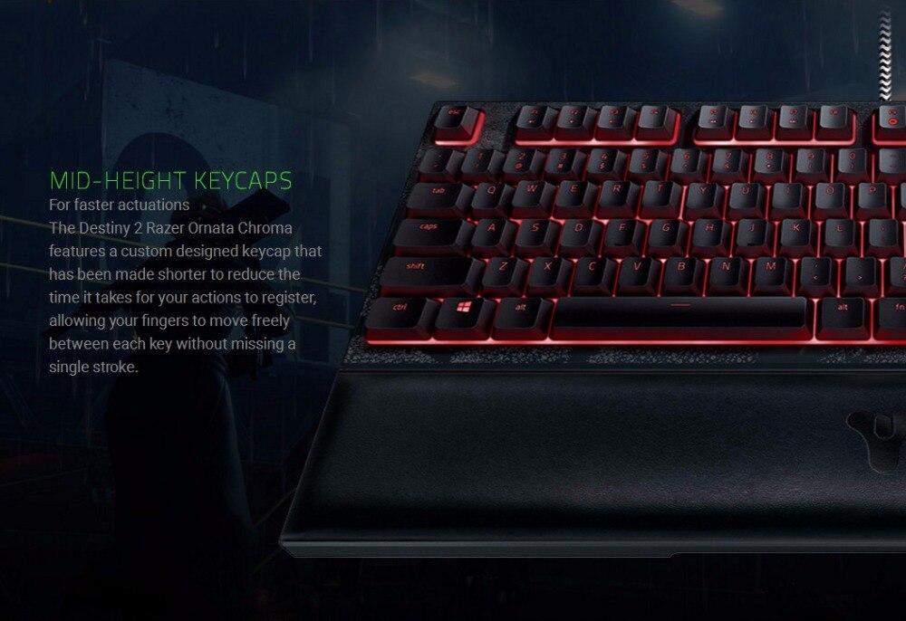 Razer Ornata Chroma Destiny 2 Edition Gaming Keyboard Mecha-Membrane RGB  Mid-Height Keycaps Rest Wired Ergonomic Keyboard