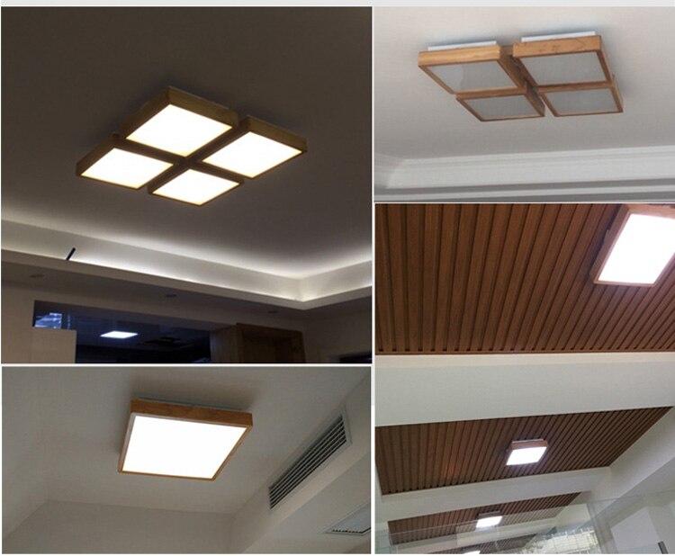 Inbouw Slaapkamer Verlichting : Houten led plafond verlichting armatuur inbouw lamp voor slaapkamer