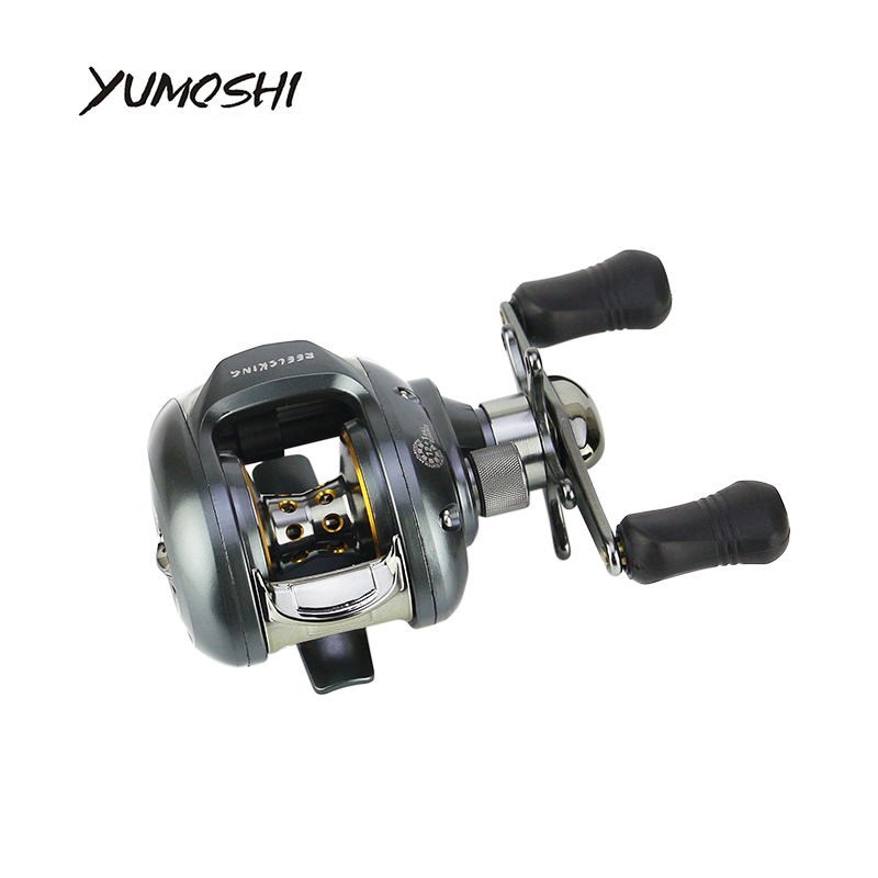 2017 YUMOSHI NEW Right or Left Baitcasting Reel 12+1BB 6.3:1 Bait Casting Fishing Reel Magnetic brake yumoshi 12 1bb left right hand halleluyah wheel fishing reel metal wire cup speed ratio 6 2 1 centrifugal magnetic brake