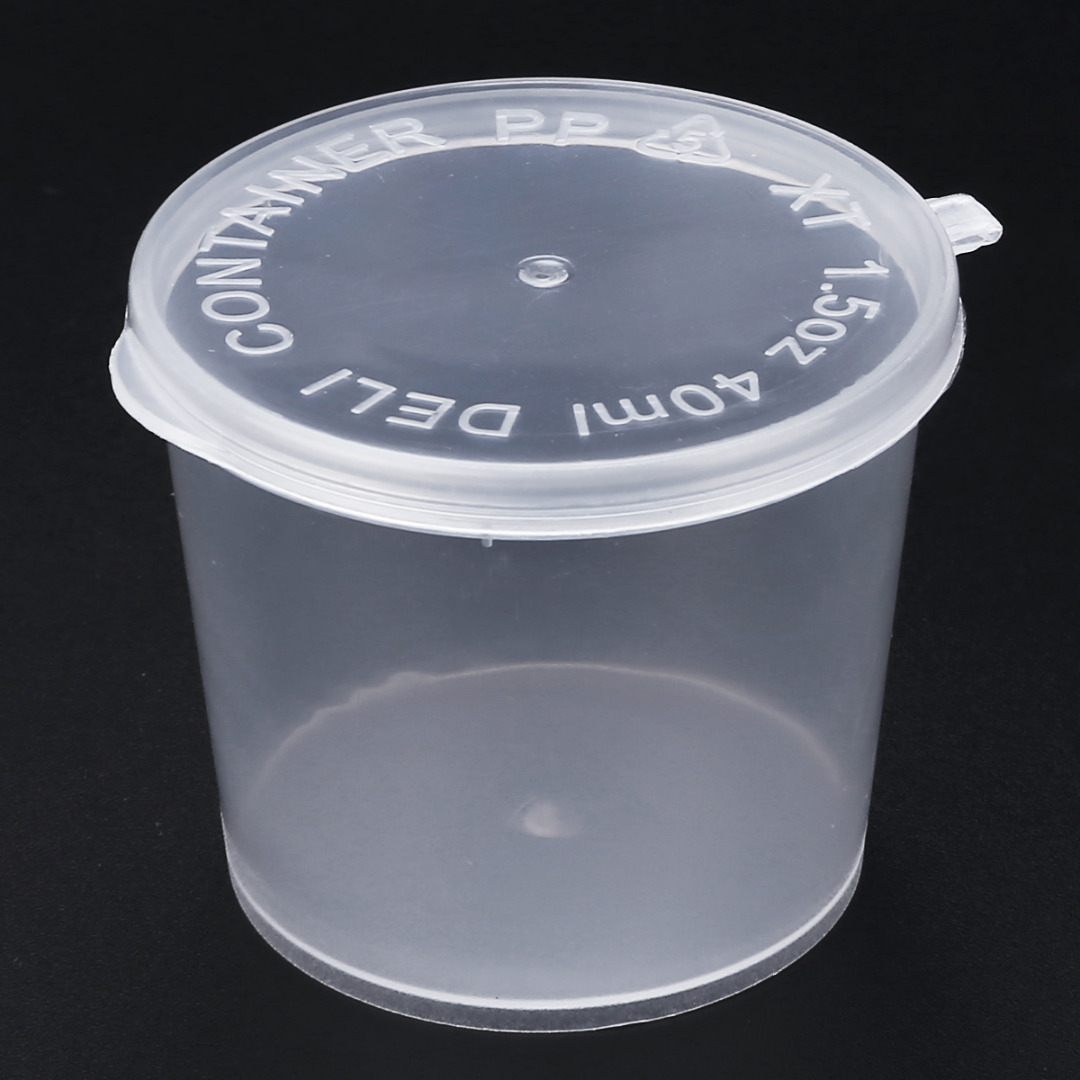 10pcs 25/40/50/80ml Round Storage Container with Lids Slime Mud Clay Storage Box Candy Gift Organizer Jar