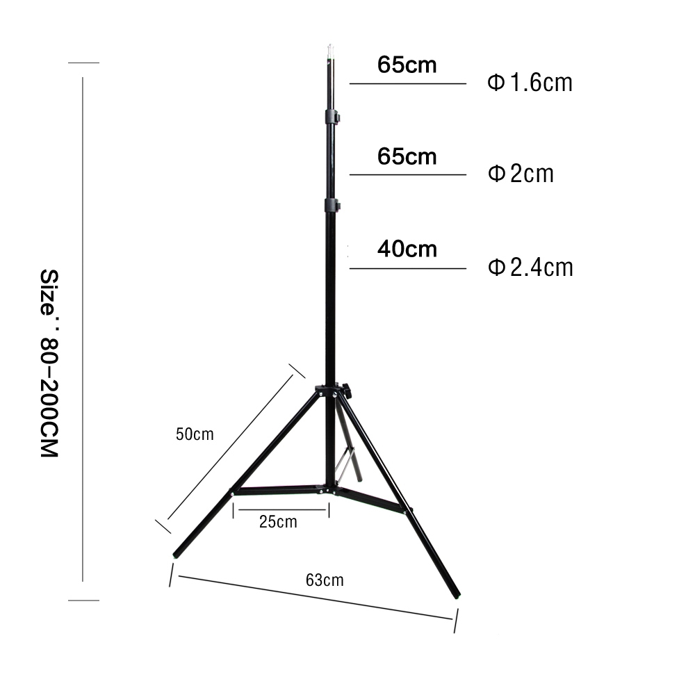 Diffuser Light 50*70cm Continuous Lighting Softbox for 4-in-1 Socket E27 Lamp Holder with 2Pcs 2M light Stand Photo Studio Kit