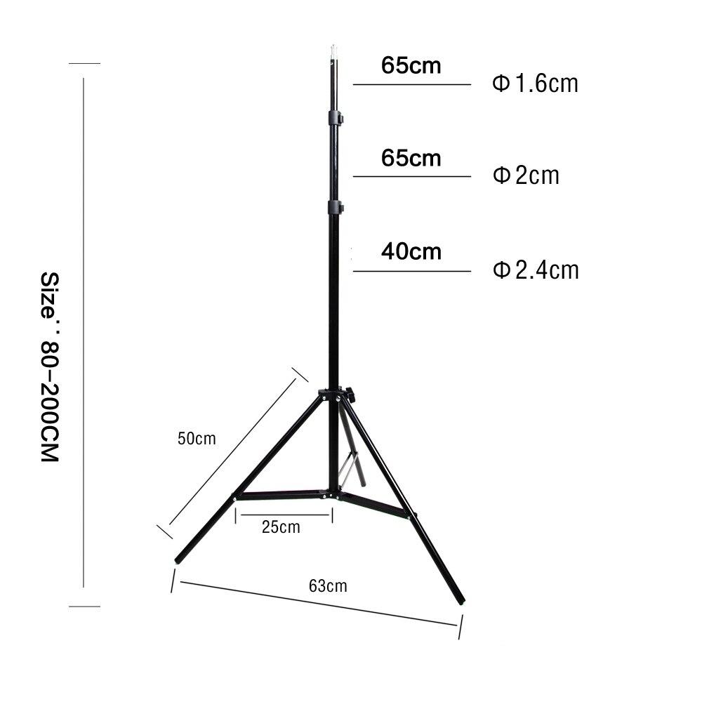 Diffuseur lumière 50*70cm éclairage continu Softbox pour 4-en-1 douille E27 support de lampe avec 2 pièces 2M support de lumière Kit de Studio Photo - 6