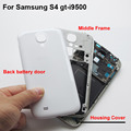 White Black Full Housing Case Middle Frame Bezel Battery Door Back Cover For Samsung Galaxy S4 SIV I9500 with button