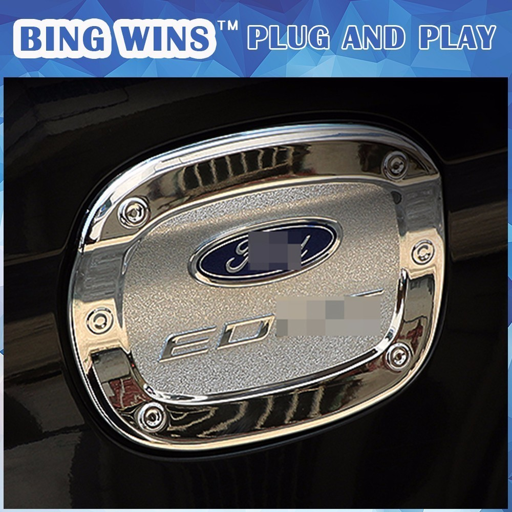 Car Styling Abs Chrome Fuel Tank Cover For Ford Edge   Gas Tank Cap Fuel Cap Cover Trim Exterior Car Accessories