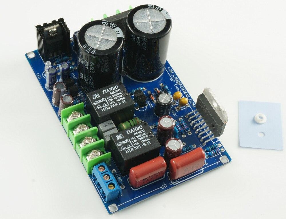 Montado tablero del amplificador LM4766T Deluxe Stero amplificador de potencia d