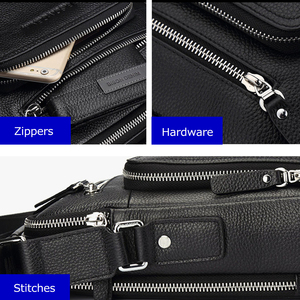 Image 5 - バイソンデニム本革メンズバッグipadハンドバッグ男性メッセンジャーバッグの男のクロスボディショルダーバッグ旅行用バッグN2333