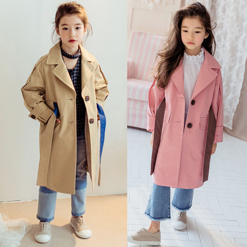 428ca8c88 cotton trend baby girls coat spring clothes with sashes 2018 autumn ...