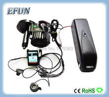 High power DIY BAFANG BBSHD 48V 1000W central motor kits with 48V 14.5Ah USB hailong down tube battery with color LCD display