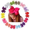 6 Inch Fashion Kids Grosgrain Ribbon Bow Hair Clips Cute Newborn Hair Clip Girls Headwear Hair Accessories Multi Color Optional
