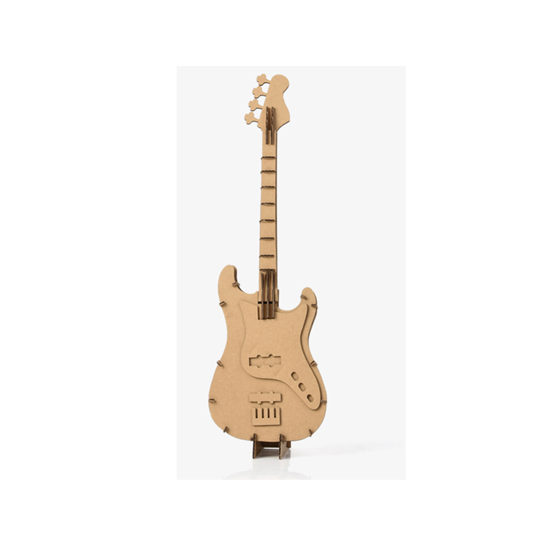 3D Big Guitar Model Jigsaw Puzzle Eco-friendly Cardboard Musical Instruments  Home Decoration Desktop Ornament Creative Toy new touch panel for 10 1 blow blacktab10 79 022 tablet touch screen digitizer glass sensor replacement free shipping