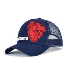 High Quality DSQICOND2 Baseball Cap Men Women Summer Fashion Outdoor Mesh Hat Breathable Black Green Navy