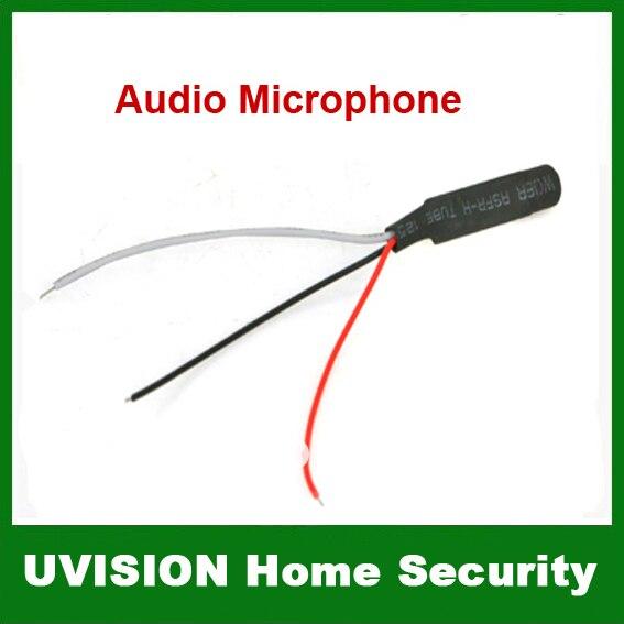 bilder für Dc strom wide range mic audio mikrofon für cctv mic audio kameras dvr system 20 teile/los kostenloser versand