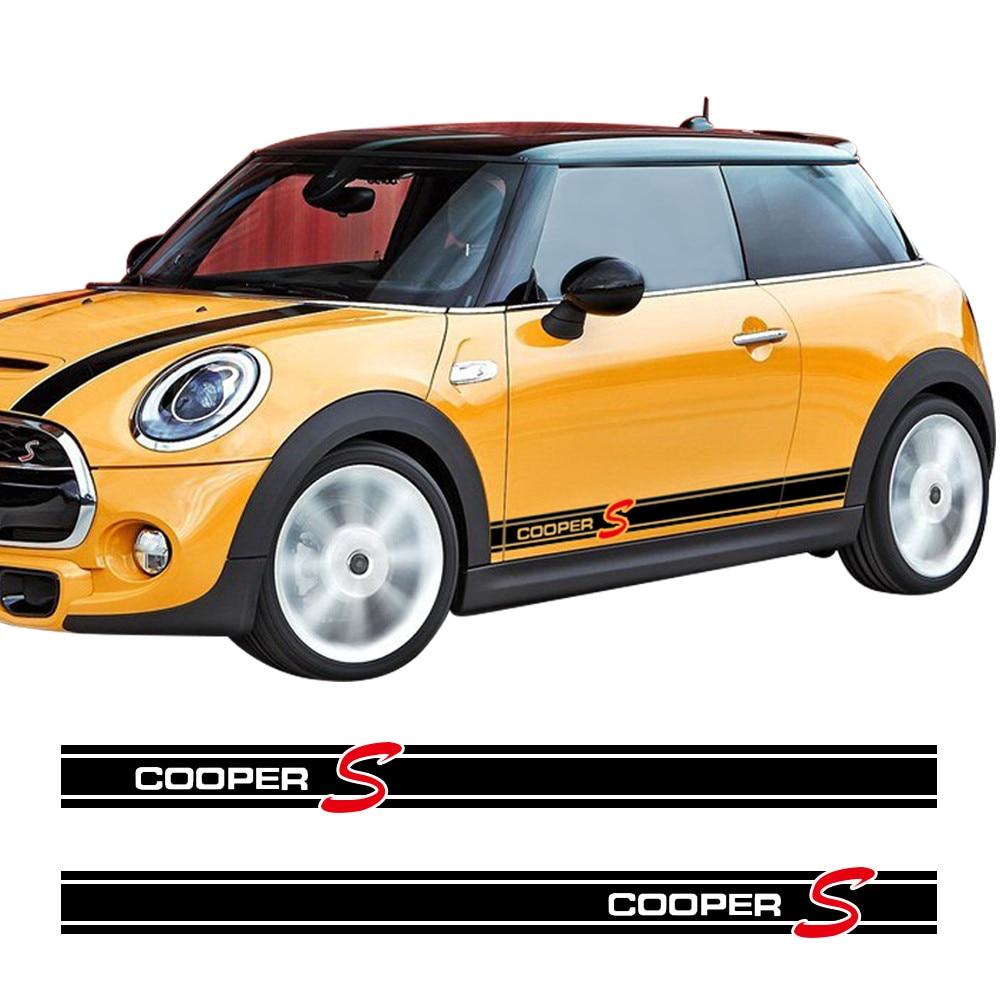 Minigonne Laterali Auto Davanzale Corse Stripe Autoadesivo Dell