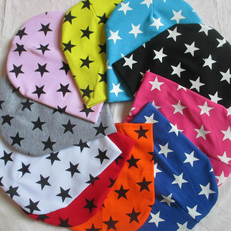 Liva Girl Baby Hat Star Printing Cotton Caps For Baby Boy Girl   Beanie   Hat Spring Autumn Winter Children's Hats Caps New Arrival