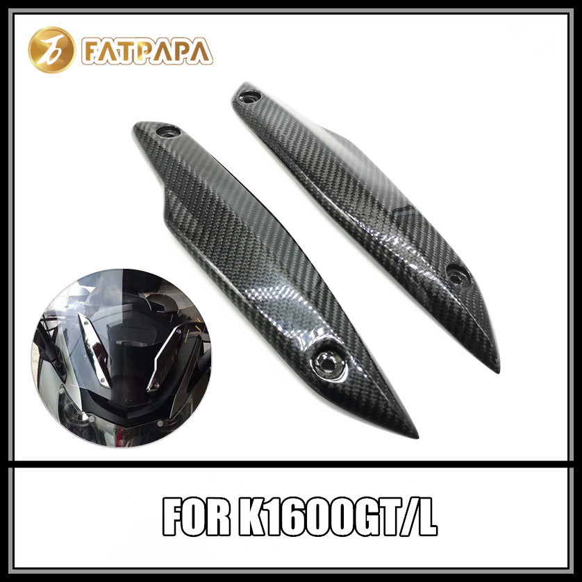 Pour BMW K1600GT K1600GTL accessoires de moto en Fiber de carbone bandes de pare-brise couverture