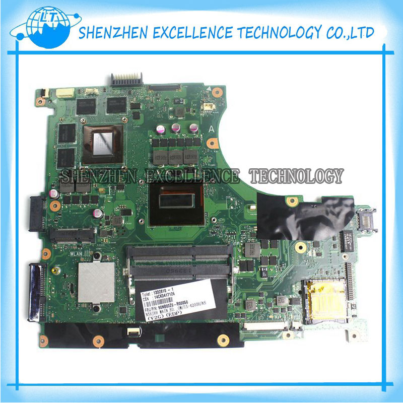 N56JR Laptop Motherboard For ASUS N56JR N56JK REV:2.0 Mainboard with i5 CPU 100% Fully Tested & Working