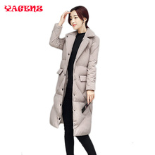 Female cotton Outerwear 2017 winter new Female cotton Outerwear long-sleeved Big yards thicken long section women jacket