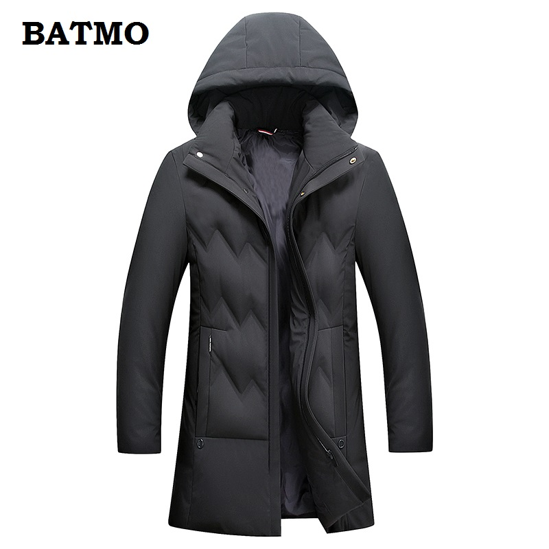 BATMO 2018 new arrival winter high quality warm 80% white duck   down   hooded jakcets men,winter men's   coat  ,plus-size Y15