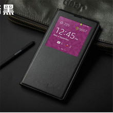 For Samsung Note 3 Neo Auto-Sleep Function With IC Chip Smart View Window Leather Case For N750 N7505 N7502 Free Shipping