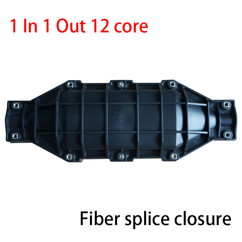 1 Into 1 Out 12 Core Fiber Opitcal Splice Closure Boxes Fiber Optic Waterproof Terminal Box