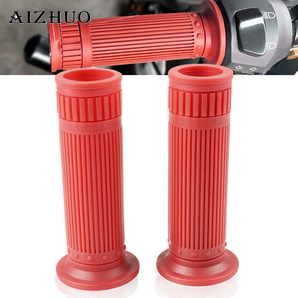25MM 28MM Universal Vintage Rubber Motorcycle Handle Grips Coffee Motorbike Handlebar Grips 9 Colors Available