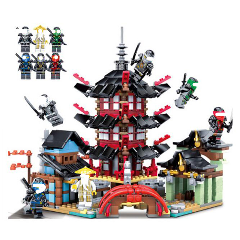 737pcs Building Blocks Figure Ninjago Series Temple of Airjitzu Jay Kai Cole Compatible 06022 Education Children Toys Gifts [yamala] 15pcs lot compatible legoinglys ninjagoingly cole kai jay lloyd nya skylor zane pythor chen building blocks ninja toys