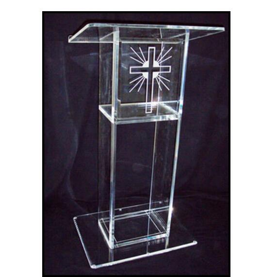 Clear Acrylic Lectern Acrylic Pulpit Perspex Podium Church Pulpit Church Pulpit  Plastic Podium