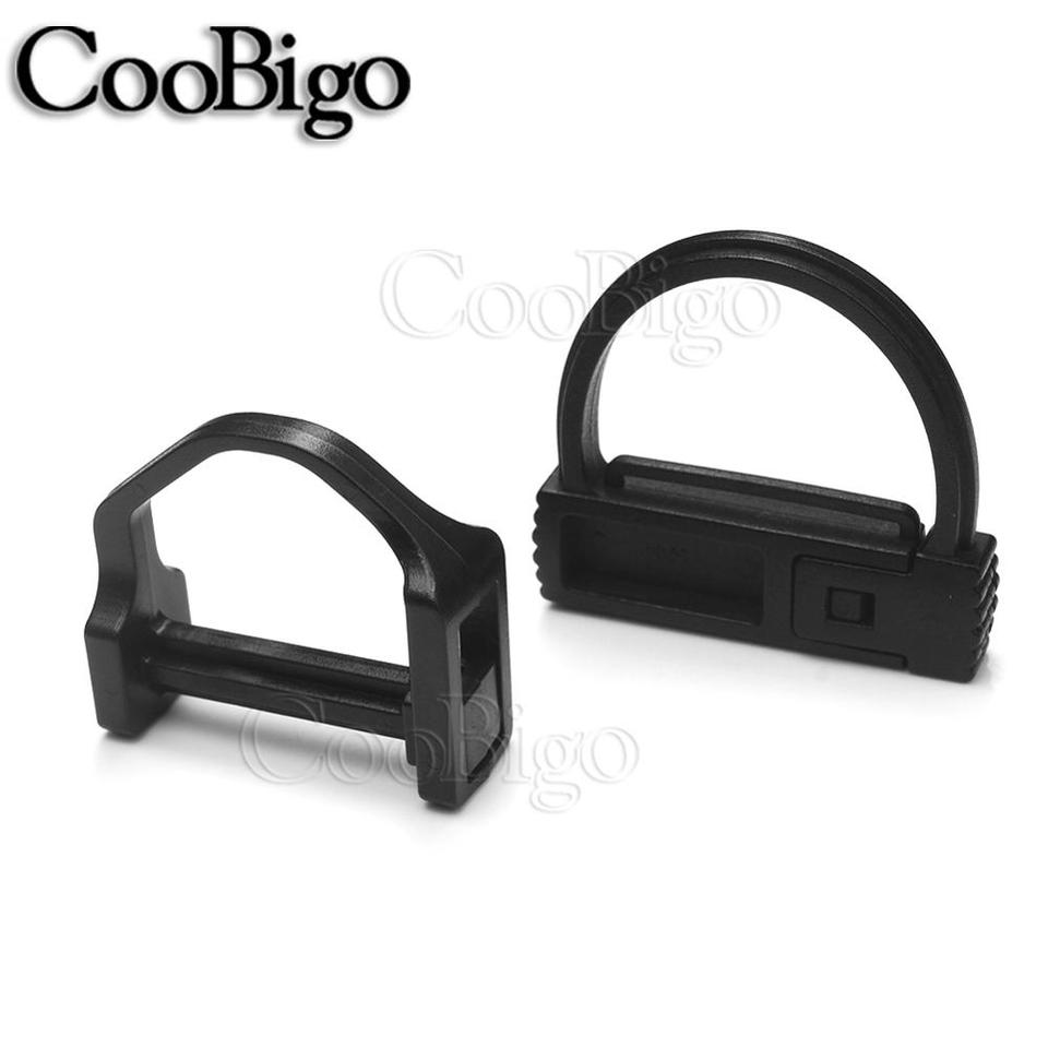 lot 10x Black D-ring Snap Clip Carabiner Tent Webbing Rope Connector Buckles