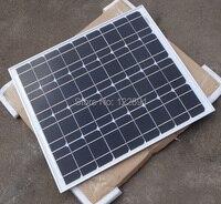 HOT 50W 18V Monocrystalline Solar Panel Used For 12V Photovoltaic Power Home Diy Solar System DHL