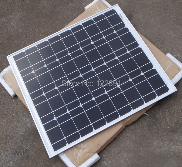 BUHESHUI High Quality 50W 18V monocrystalline Solar Panel Used For 12V photovoltaic Power Home Diy Solar system 2pcs/lot