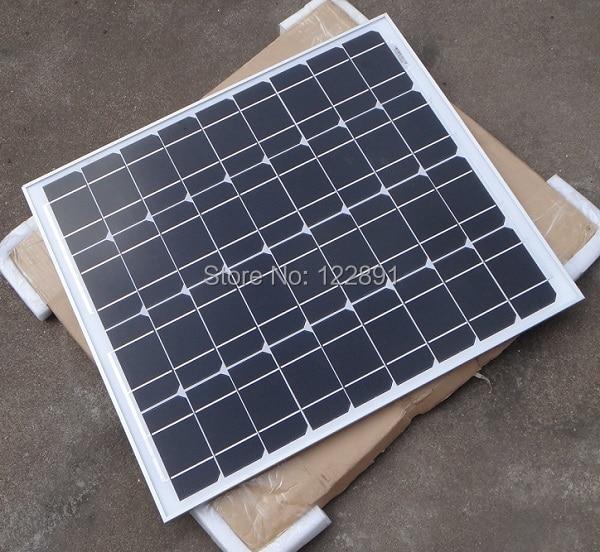 Высокое Качество 50 Вт 18 В монокристаллического Панели Солнечных Батарей Используются Для 12 В фотоэлектрической Энергии Домашней Diy Солнечной системы 2 шт./лот