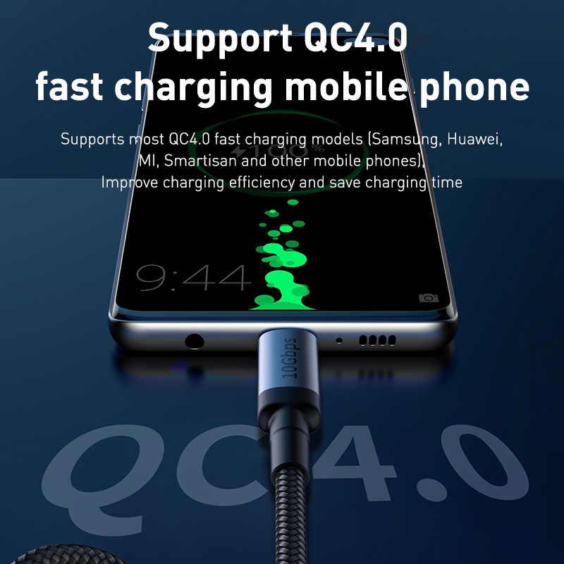 BASEUS USB 3.1 ประเภท C ถึง USB C สำหรับ Samsung Huawei Samsung S9 S10 PD 100W Quick Charge 4.0 USB-C FAST CHARGE CABLE สำหรับ MacBook Pro