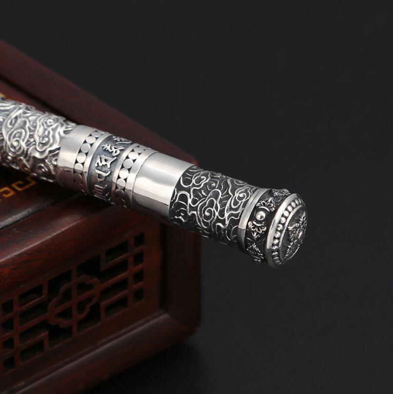 Pure Silver Sterling 925 เงินย้อนยุคสร้างสรรค์ปากกาลูกลื่น S925 เครื่องประดับ (FGL)-ใน จี้ จาก อัญมณีและเครื่องประดับ บน   3