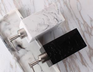 Image 5 - Creative Resin Soap Bottle Hotel Marble Shampoo Dispenser Press  Hand Sanitizer Bottle Soap Dispenser Set 400ml/500ml