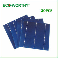 ECO WORTHY 20pcs Efficiency Solar Cell 6x6 Polycrystalline Solar Cells For Diy 18v Mini Solar Panel Module 12v