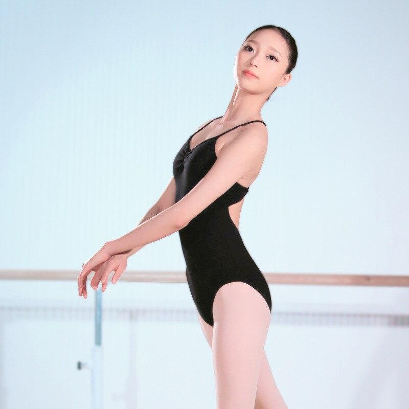 Women Sexy Black Ballet Dance Leotard Adult Girls Ballet -3852