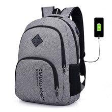 15.6 Inch Chống Trộm Laptop Túi Sạc USB Nam Vải Bố Ba Lô Du Lịch, Có Áo Ba Lô Thiếu Niên SchoolBag Mochila