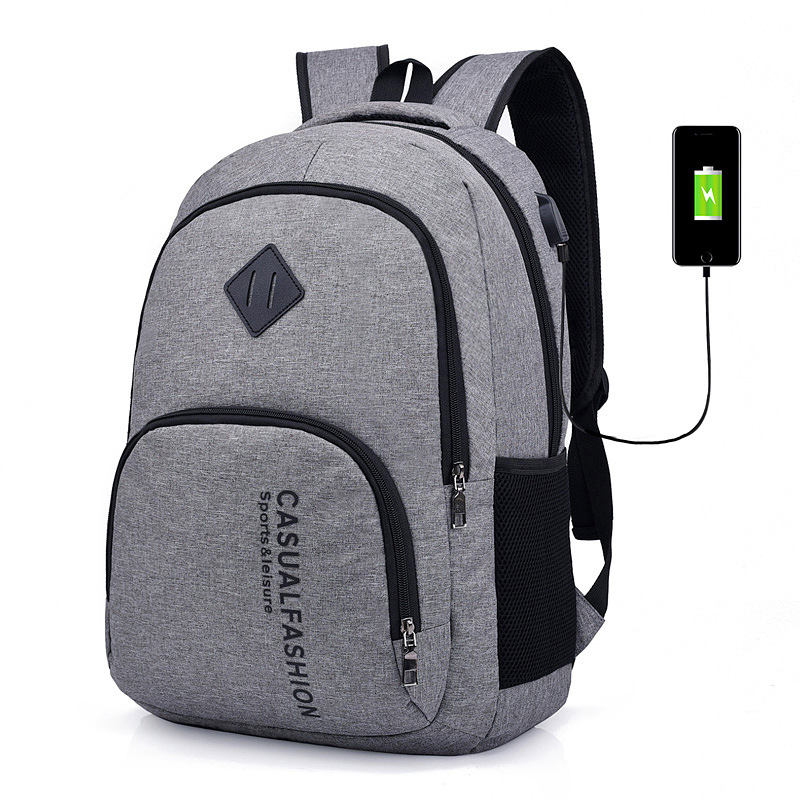 15.6 <font><b>inch</b></font> Anti theft <font><b>Laptop</b></font> <font><b>Bag</b></font> USB Charging Male Canvas BackPack Travel School <font><b>Bag</b></font> Men Backpack Teenager SchoolBag Mochila image