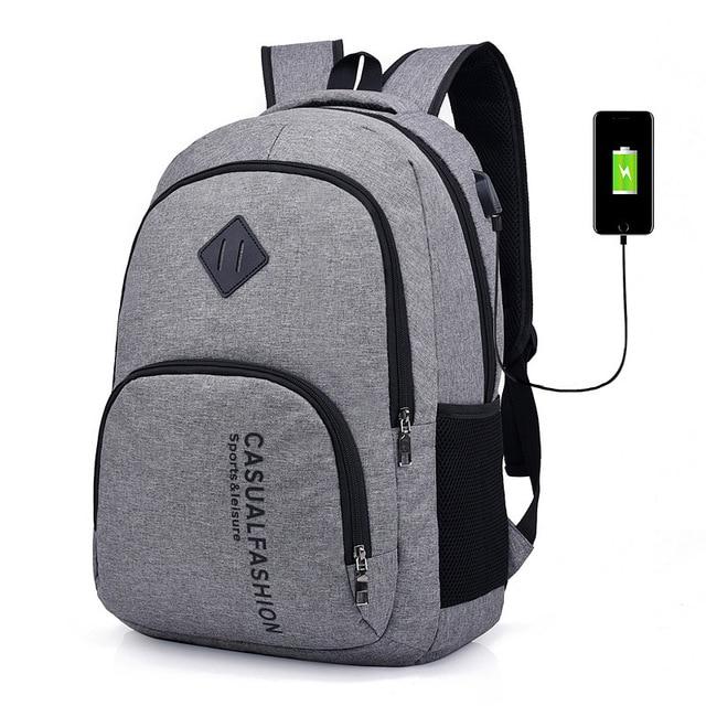 15.6 inch Anti theft Laptop Bag USB Charging Male Canvas BackPack  Travel School Bag Men Backpack Teenager SchoolBag Mochila