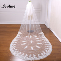 Two Layers 3 Meter Wedding Veil Cathedral Wedding Veils Applique Bridal Veil With Comb Veu de Noiva Longo Wedding Accessories
