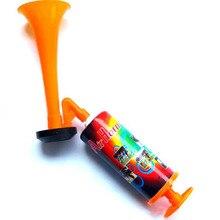 Болельщик футбольного мяча болельщики рога спорта встречи клуба реквизит Регулируемая Пластиковая Труба Детская игрушка ручной нажимной газовый насос Воздушный Рог
