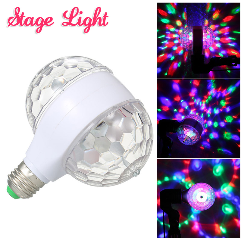New E27 RGB LED Party Lights Magic Ampoule Ball Bulb Home Party Holiday Karaoke Decoration Mini Colorful LED Stage Light Lamp